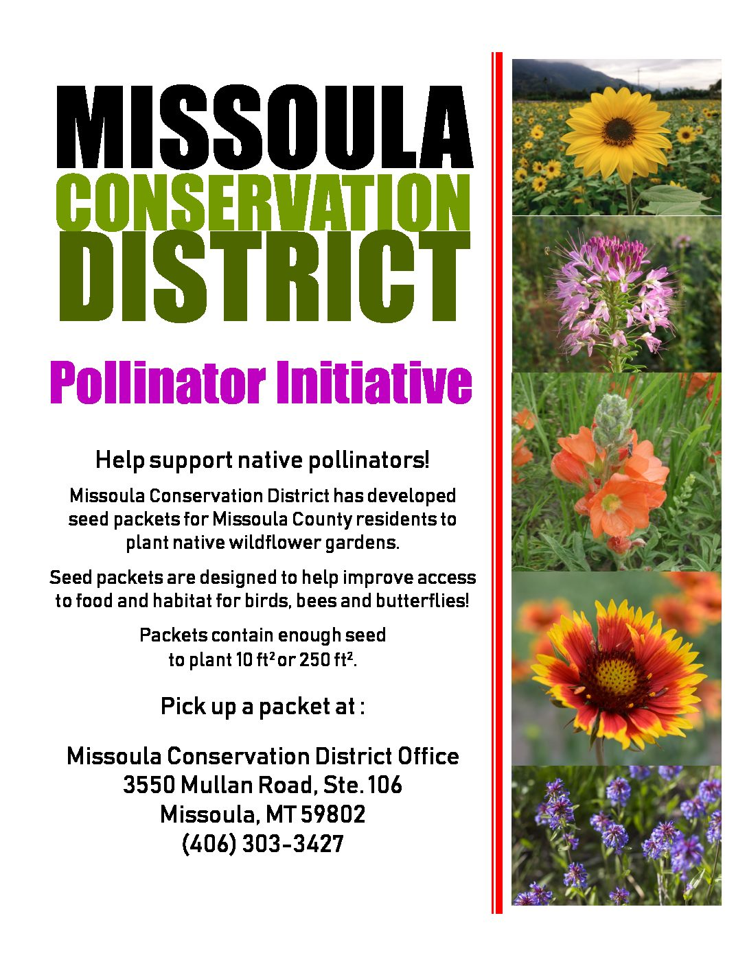 Missoula CD Launches Pollinator Initiative