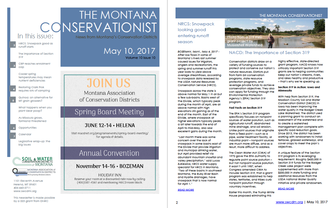 The Montana Conservationist, May 10